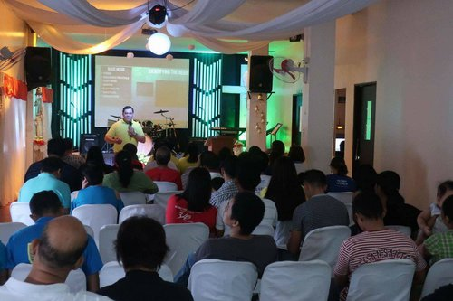 Bro. Peter Bautista speaking at